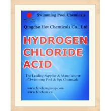 Ácido clorhídrico líquido para los productos químicos de la piscina CAS no 7647-01-0