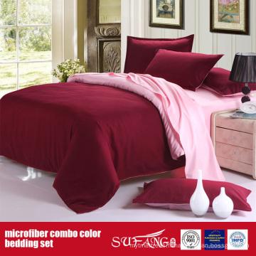 Drap de lit de microfibre de couleur solide de 100GSM