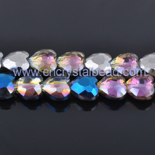 Heart shape jewelry Crystal Bead Strand