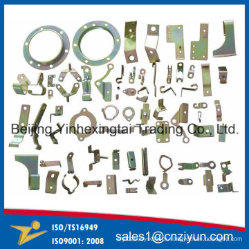 Customized Small Sheet Metal Stamping Components with Yellow Zinc