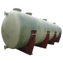 Tanque cilíndrico de fibra de vidrio FRP GRP para almacenamiento y transporte