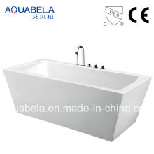 Wide Rim Sanitary Ware Acrylic Whirlpool&Jacuzzi Tub Bathtub (JL604)