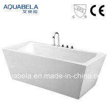Широкая обода Sanitary Ware Акриловая ванна с джакузи и джакузи (JL604)
