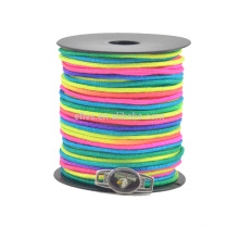 New colorful rainbow 2mm paracord spools parachute cord making paracord bracelet supplier