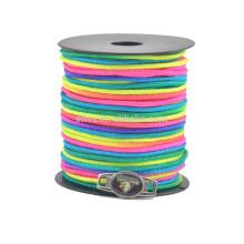 Новые цветные радужные 2мм паракордные шпули парашютный шнур, делающий браслет паракордного браслета