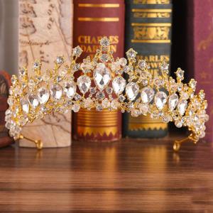 Tiaras de boda de diamantes de imitación vintage únicas