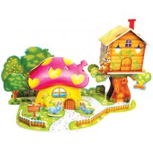 Puzzle 3D maison aux champignons