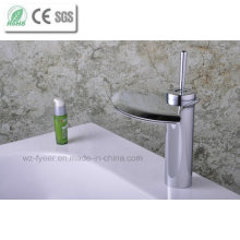 Single Level Handle Big Spout Bathroom Waterfall Basin Faucet (Q3001)