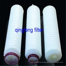 Cartucho de filtro plisado de membrana de filtro de 10''PTFE