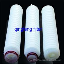 10′′PTFE  Filter Membrane Pleated Filter Cartridge