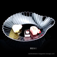 Tableware Plastic Dish Disposable Scallop Shaped Dish