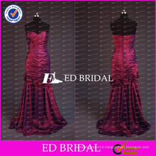 ED Bridal Elegant Sweetheart Mermaid Wine Red Taffeta Long Mother Of The Bride Dress For Lady 2017