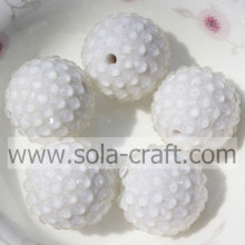 Shinning Clear White Solid Resin Rhinestone 20*22MM Beads For DIY Bracelet