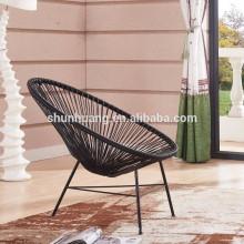 cheap design rattan wicker chair colorful aluminium peacock chair