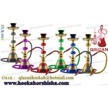Vendas quentes uma mangueira Hookah médio com mão pintado vaso de vidro