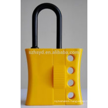 High quality yellow insulation nylon hasp padlock keyed alike