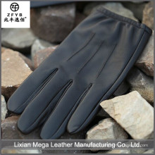 China de alta calidad de los hombres personalizados de conducir guantes de cuero de invierno