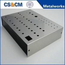 Laser cutting and bending sheet metal enclosure box fabrication