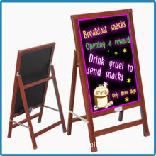 Remote control RGB 5050 tempered glass outdoor waterproof wooden led sign writing glow board manufacturer