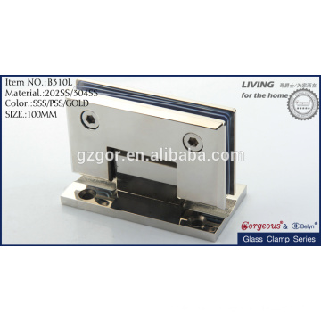 square bevel 90degree wall-glass hinge/bathroom glass clamp