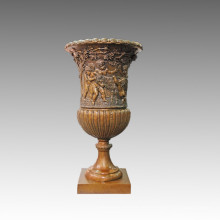 Статуя вазы Дети / Дети Бронза Жардинье скульптура TPE-1043