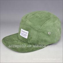 Sombrero de ala de ante de 5 paneles
