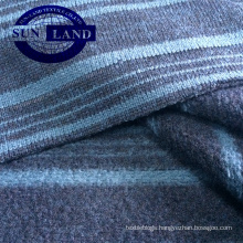 100% polyester stripe yarn dye fleece fabric for winter fashion cloth