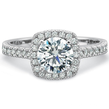 Hot Sales Micro Set Diamond CZ 925 Silver Ring Jewelry