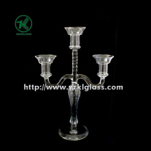 Glass Candle Holders for Party Decoration with Three Posts (10*22.5*33.5)