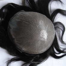 indian remy human hair toupee / wig for men super thin skin toupee