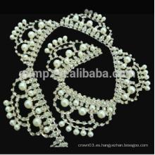 Collar claro de la cadena de la taza del rhinestone del color para el vestido de la cadena del cuerpo