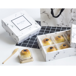 Marble pattern paper food storage boxes