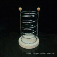 New Design Metal Chopsticks Barrel With Wooden Bottom