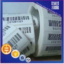 Custom Barcode Code Security Label Sticker