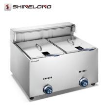 Shinelong ODM и OEM высокое качество рекламы ресторана глубокую сплошную картофельные чипсы фритюрницы машина с 2-танки 2-корзины