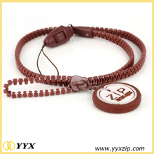 Popular fashion zippers neck lanyard for sale
