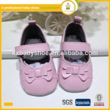 Melhor vendendo novo estilo de chegada por atacado sapatos de couro único para bebês