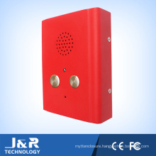 J&R Two Buttons Red Mini-Intercom Emergency Elevator Telephone