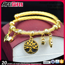 Chine importer bracelets charme mode plaqué or pas cher en vrac charme bracelets femme
