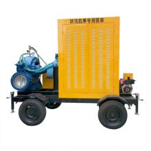Pompe à eau à moteur diesel montée par Tralier de Big Flow