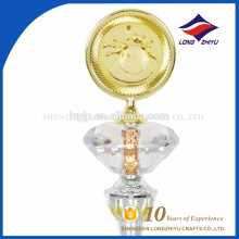 Hot sales cheap Custom Shaped Awards Acrylic with metals Awards Trophy
