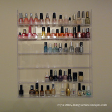 Wall Mounted Nail Polish Display, Acrylic Nail Enamel Showcase