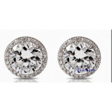 White Cubic Zirconia Stud Earrings (E8907)