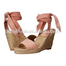 2016 Summer Ladies Fancy Pumps Chaussures Sandal Vente en gros Femmes Espadrilles