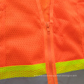 Mesh reflective safety vest with warning cross reflective tape
