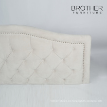 Placa de cabecero de cama tapizada de madera de alta calidad