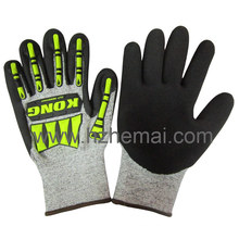Hppe Nitrile Coated Cut-Resistance Impact Gloves Safety Work Glove