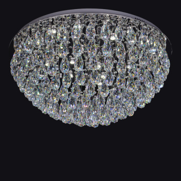crystal drop ceiling light with big ball
