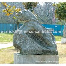 Belle sculpture en pierre de tigre