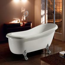 White Freestanding Soaking Acrylic Classical Bathtub